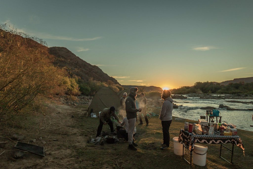 Camping on the Orange River
