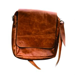 Leather Messenger bag with flap