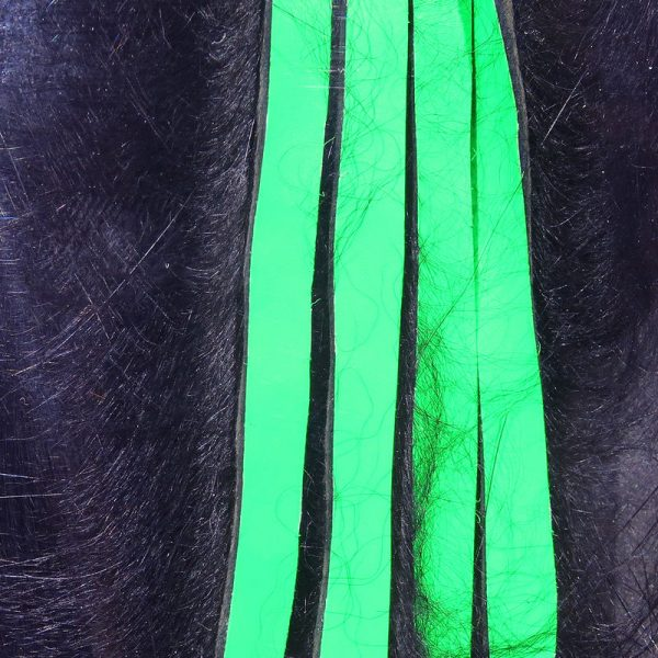 Bling Rabbit Strips - Black with Fl Green Chartreuse Accent