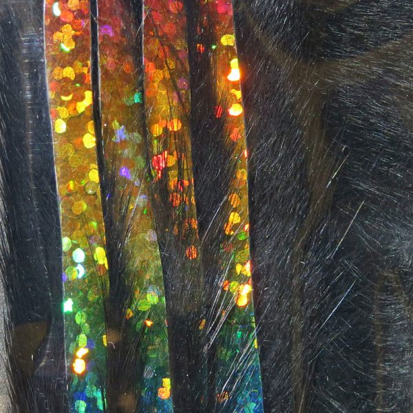 Bling Rabbit Strips - Black with Holo Rainbow Accent