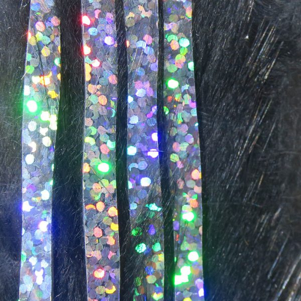 Bling Rabbit Strips - Black with Holo Silver Accent