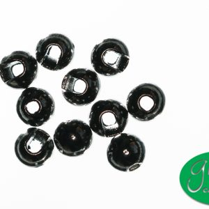 Tungsten Beads Slotted - Black Nickel