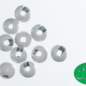 Tungsten Beads Slotted - White