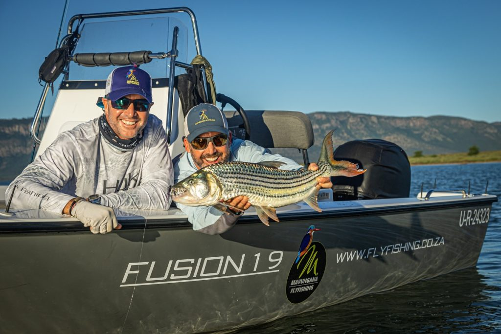 flyfishing for tigerfish on Lake Jozini in Pongola, South Africa